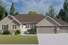 Architectural House Design - Traditional Exterior - Front Elevation Plan #1060-100