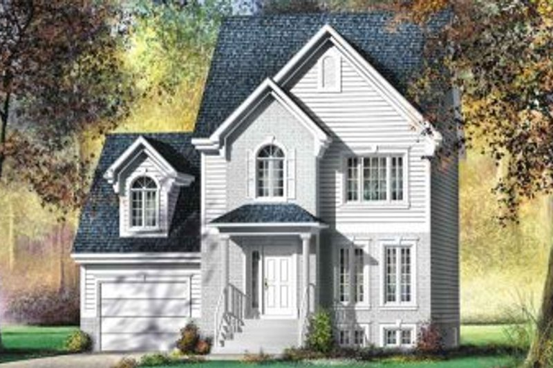 European Style House Plan - 3 Beds 1.5 Baths 1477 Sq/Ft Plan #25-4148 Exterior - Front Elevation