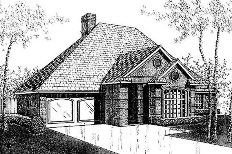 Traditional Exterior - Front Elevation Plan #310-897 - Houseplans.com
