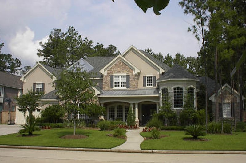 European Exterior - Front Elevation Plan #61-138 - Houseplans.com