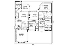 European Floor Plan - Main Floor Plan Plan #84-617