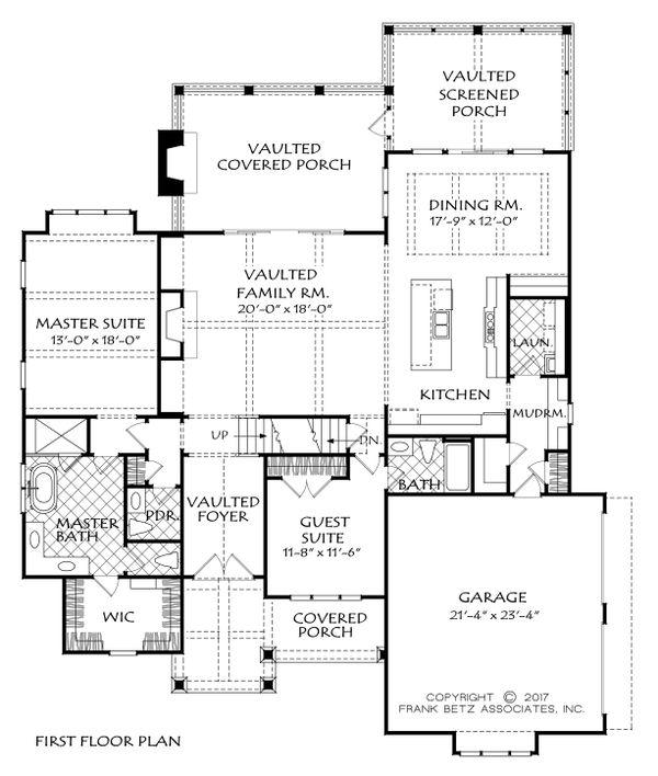 Craftsman Floor Plan - Main Floor Plan #927-983