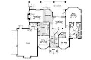 Classical Style House Plan - 4 Beds 3.5 Baths 2734 Sq/Ft Plan #417-325 Floor Plan - Main Floor Plan