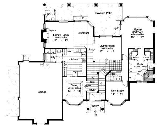 Classical Floor Plan - Main Floor Plan Plan #417-325