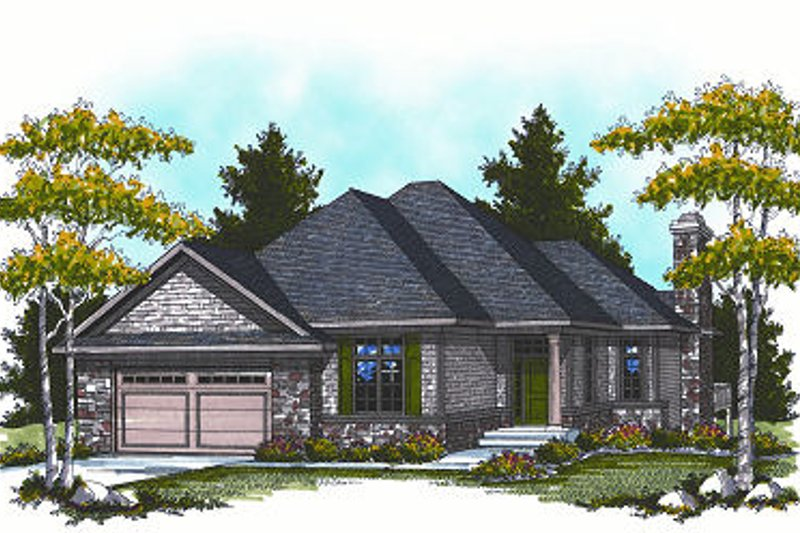 European Exterior - Front Elevation Plan #70-859