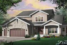 Home Plan - Bungalow Exterior - Front Elevation Plan #23-402
