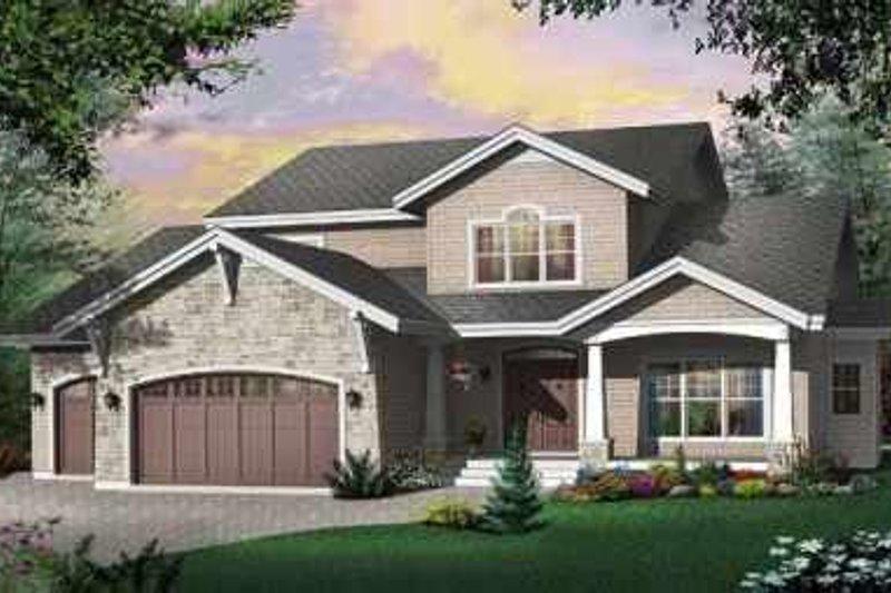 Dream House Plan - Bungalow Exterior - Front Elevation Plan #23-402