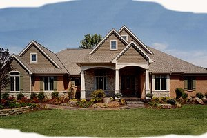 Architectural House Design - Craftsman Exterior - Front Elevation Plan #46-114
