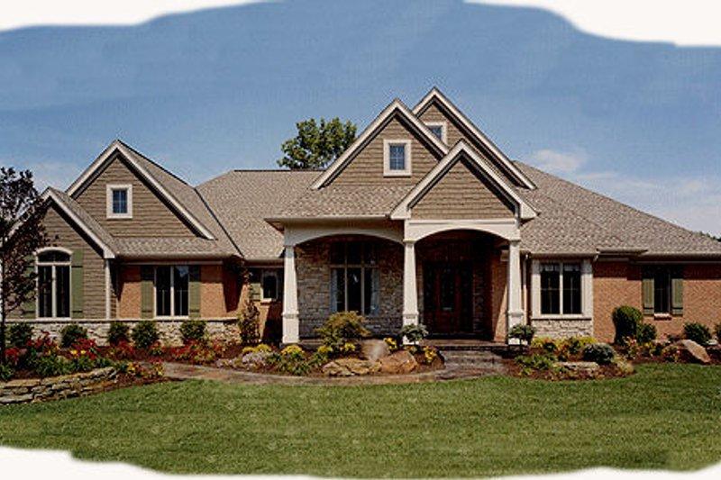 Architectural House Design - Craftsman Exterior - Front Elevation Plan #46-114