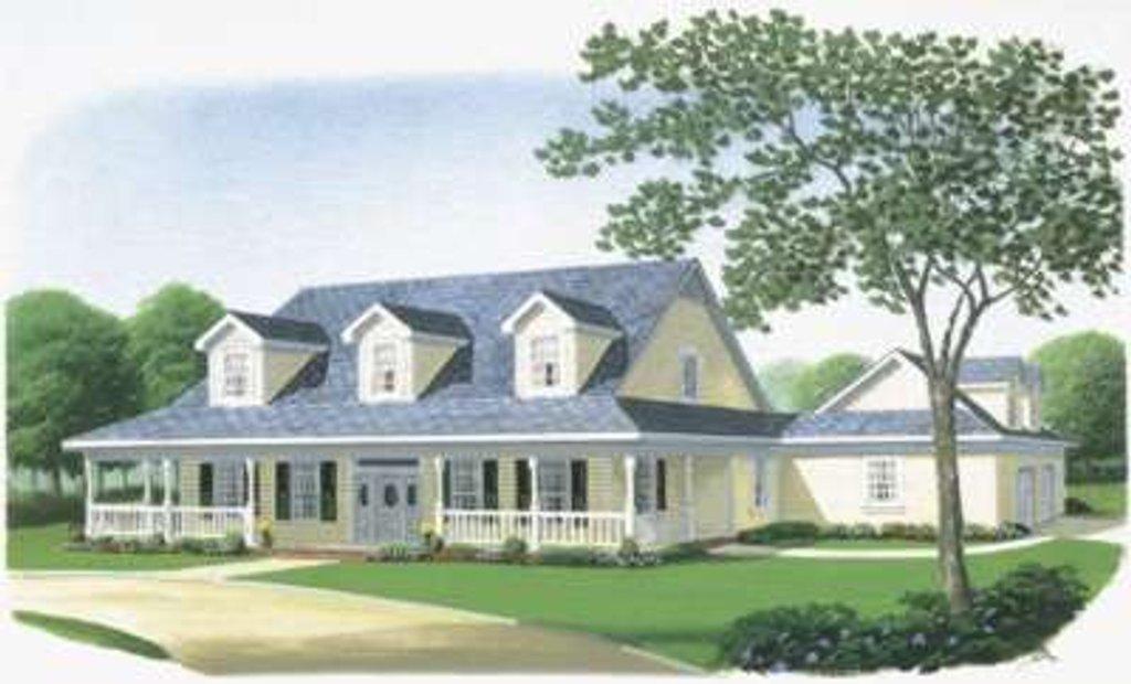Farmhouse Exterior - Front Elevation Plan #410-122