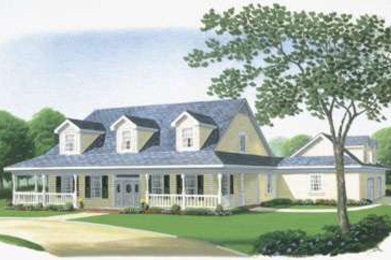 Farmhouse Exterior - Front Elevation Plan #410-122 - Houseplans.com