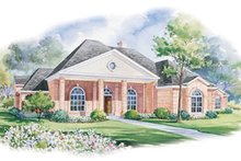 Home Plan - Southern Exterior - Front Elevation Plan #20-1147