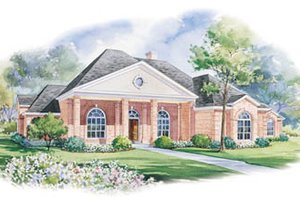 Southern Exterior - Front Elevation Plan #20-1147