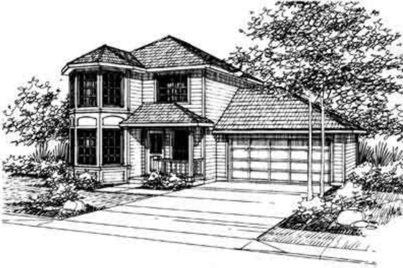 Exterior - Front Elevation Plan #124-316 - Houseplans.com
