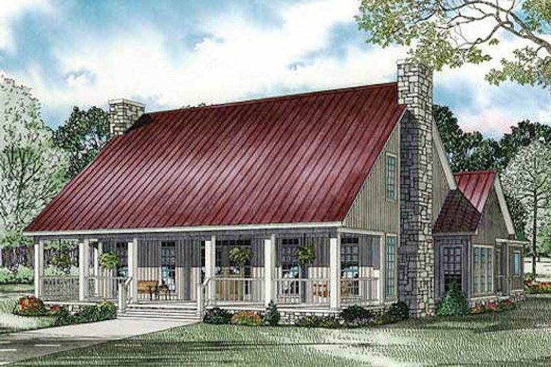 Dream House Plan - Farmhouse Exterior - Front Elevation Plan #17-2441