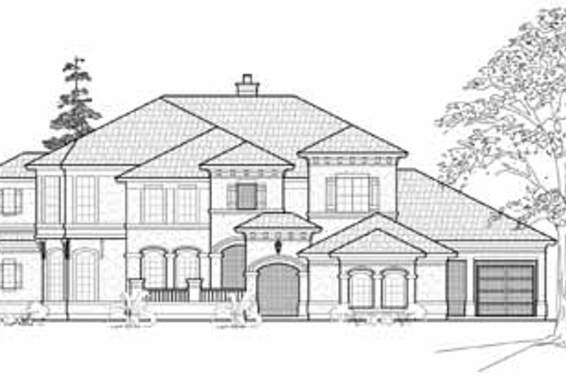Traditional Exterior - Front Elevation Plan #61-305 - Houseplans.com