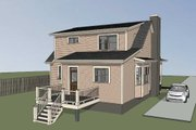 Southern Style House Plan - 3 Beds 2.5 Baths 1520 Sq/Ft Plan #79-212 Exterior - Other Elevation