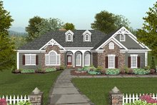 Dream House Plan - Craftsman Exterior - Front Elevation Plan #56-568
