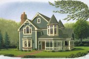 Victorian Style House Plan - 3 Beds 2.5 Baths 2071 Sq/Ft Plan #410-109 Exterior - Front Elevation