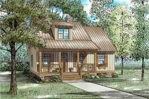 Cottage Exterior - Front Elevation Plan #17-2013