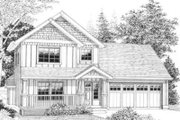 Bungalow Style House Plan - 4 Beds 3 Baths 1748 Sq/Ft Plan #53-334 Exterior - Front Elevation
