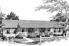 House Plan Design - Ranch Exterior - Front Elevation Plan #57-162