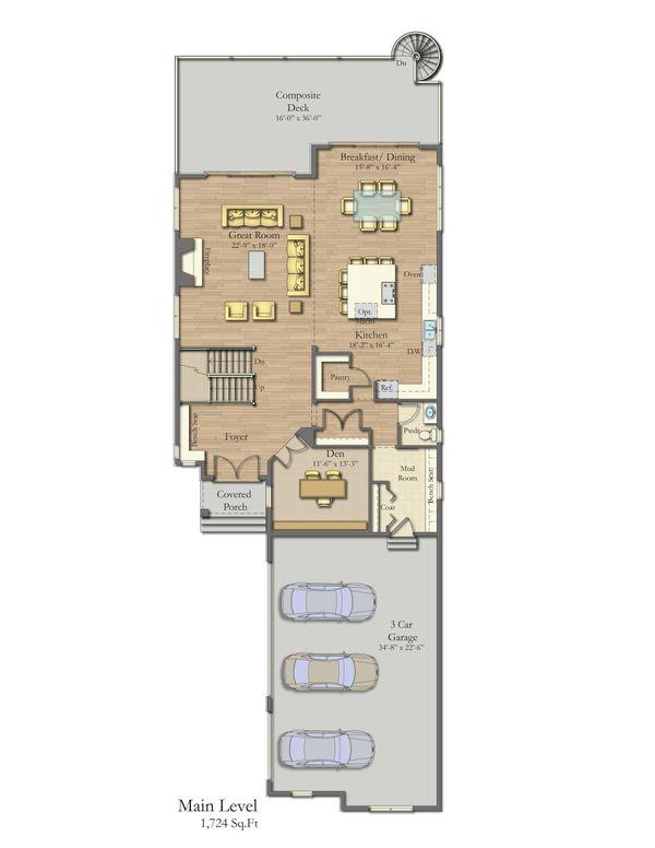 Home Plan - Craftsman Floor Plan - Main Floor Plan #1057-29