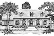 Southern Style House Plan - 3 Beds 2.5 Baths 2127 Sq/Ft Plan #36-194 Exterior - Front Elevation