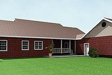 Southern Exterior - Rear Elevation Plan #44-146