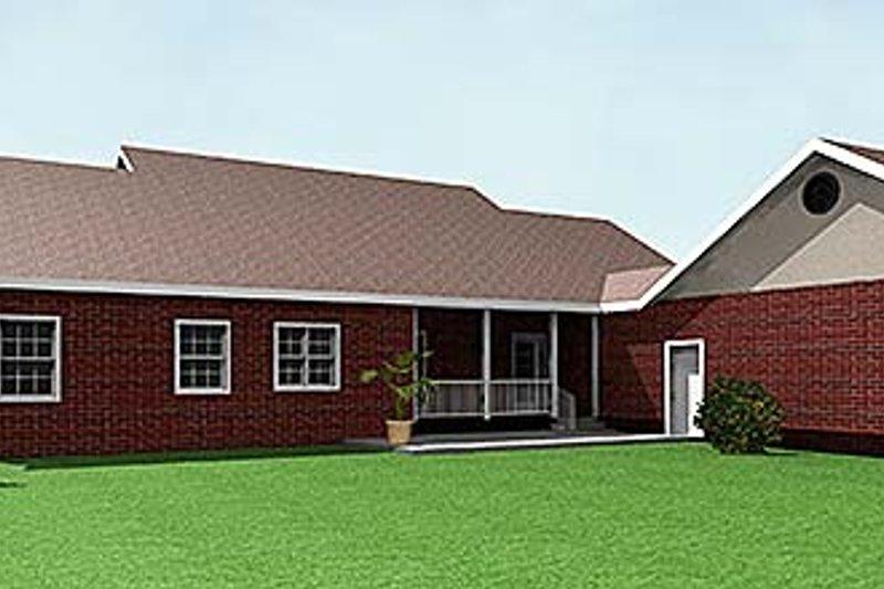 Southern Exterior - Rear Elevation Plan #44-146 - Houseplans.com