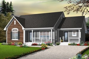 Cottage Exterior - Front Elevation Plan #23-2279