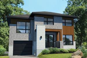 Contemporary Exterior - Front Elevation Plan #25-4513