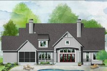 House Plan Design - Farmhouse Exterior - Rear Elevation Plan #929-1063