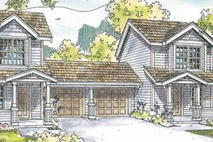 Craftsman Exterior - Front Elevation Plan #124-812