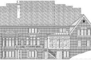 European Style House Plan - 4 Beds 4 Baths 5290 Sq/Ft Plan #119-213 Exterior - Rear Elevation