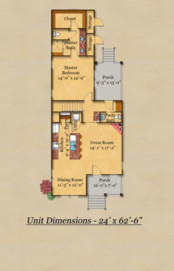 Cottage Floor Plan - Main Floor Plan Plan #442-1