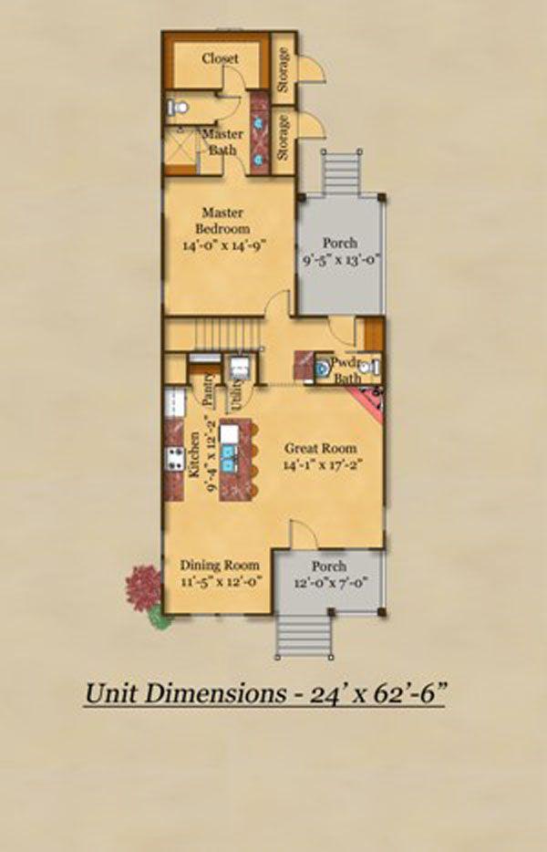 Cottage Floor Plan - Main Floor Plan #442-1