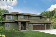 Prairie Style House Plan - 4 Beds 3 Baths 3109 Sq/Ft Plan #124-969 Exterior - Other Elevation