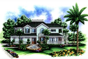 Traditional Exterior - Front Elevation Plan #27-409