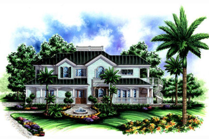 Traditional Style House Plan - 4 Beds 4.5 Baths 3522 Sq/Ft Plan #27-409