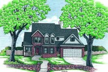 Home Plan - Traditional Exterior - Front Elevation Plan #20-559