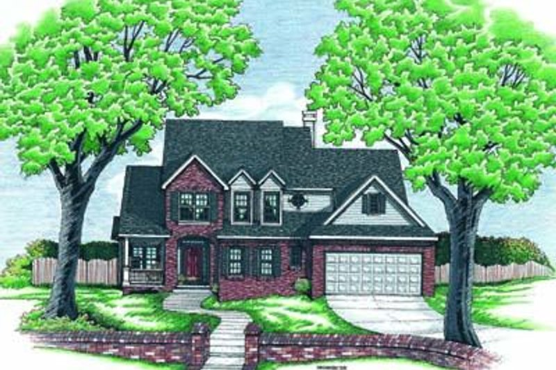Traditional Exterior - Front Elevation Plan #20-559 - Houseplans.com