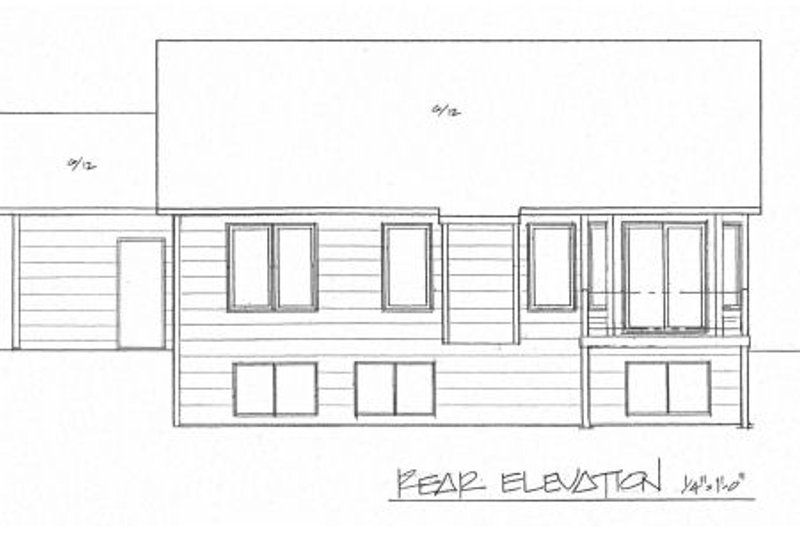Traditional Exterior - Rear Elevation Plan #58-168 - Houseplans.com