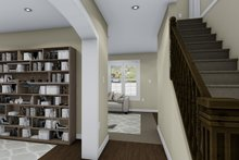 Architectural House Design - Traditional Interior - Entry Plan #1060-4