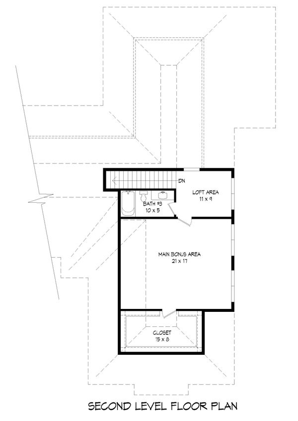 Traditional Floor Plan - Upper Floor Plan #932-167