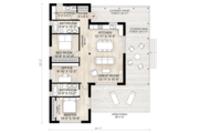 Cabin Style House Plan - 2 Beds 2 Baths 1230 Sq/Ft Plan #924-2 Floor Plan - Main Floor