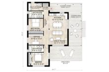 Cabin Floor Plan - Main Floor Plan Plan #924-2