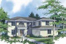 Dream House Plan - Mediterranean Exterior - Front Elevation Plan #48-144