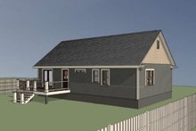 Country Exterior - Rear Elevation Plan #79-118