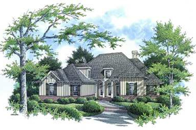 Dream House Plan - Traditional Exterior - Front Elevation Plan #45-292